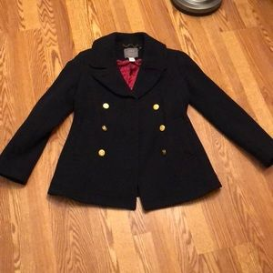 Women's J. Crew majesty pea coat.